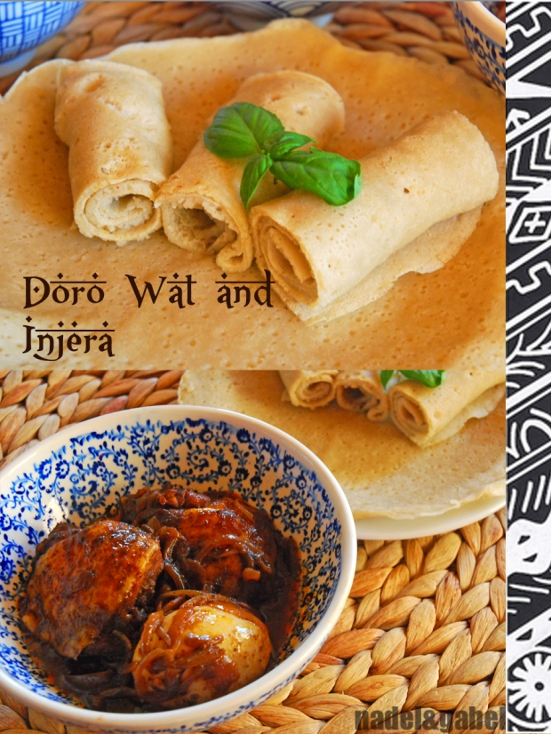 Ethiopian meal with injera | nadel&gabel