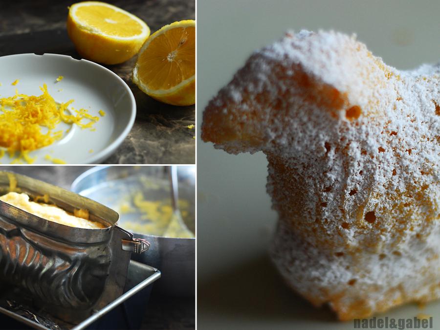 White chocolate and lemon Easter lamb cake | nadel&gabel
