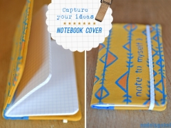 notebook cover - textile paint and stencil