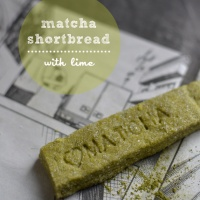 Finally! - Matcha shortbread fingers with lime
