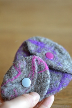 felted coin purse