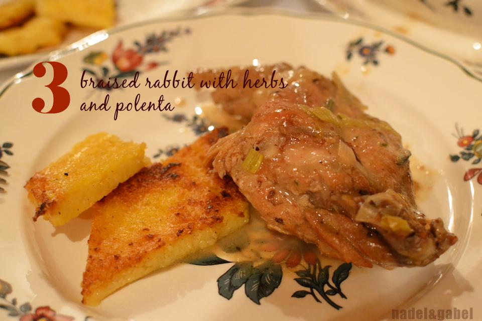 braised rabbit with polenta   nadel&gabel