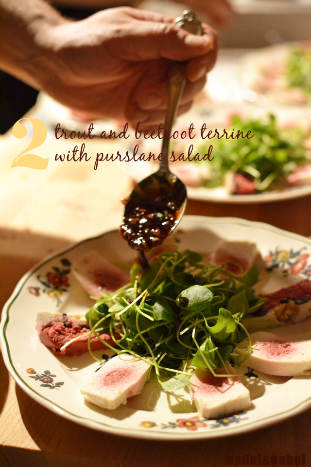 trout terrine and purslane salad
