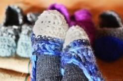 crocheted house slippers