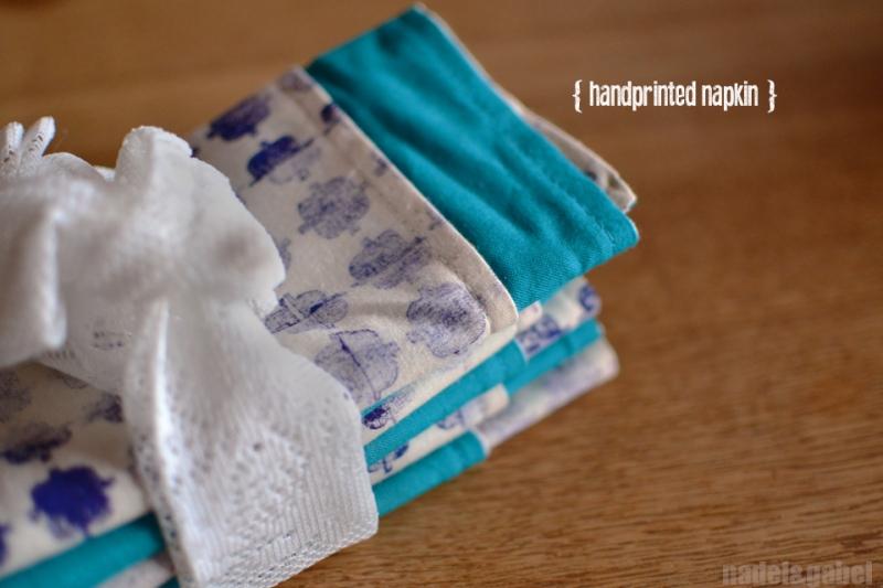 handprinted napkin