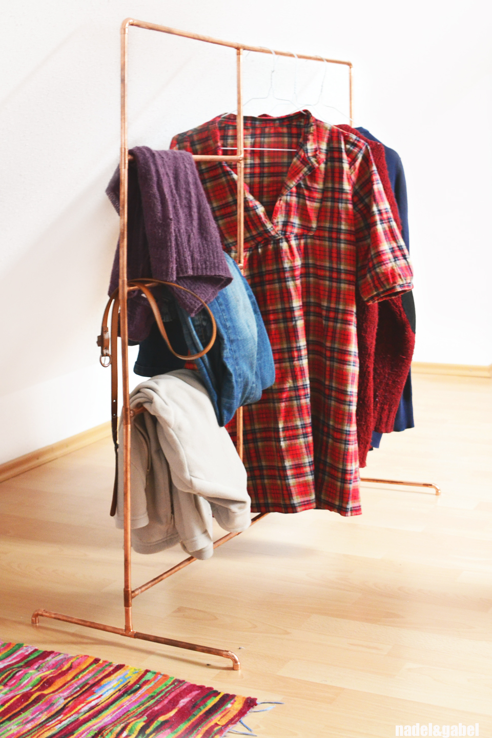 Uncategorized The Clothes Rack copper diy clothes rack from pipes nadelgabel 3 the materials i needed