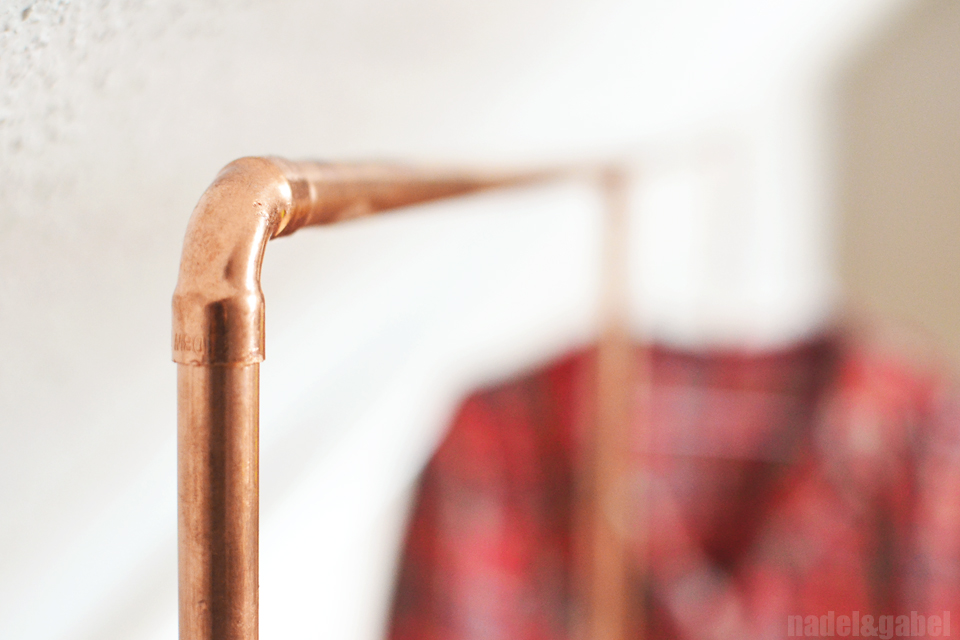 Copper DIY Clothes Rack From Copper Pipes Nadelgabel New Diy Coat Rack Pipe