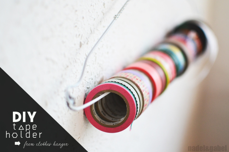 DIY masking tape holder