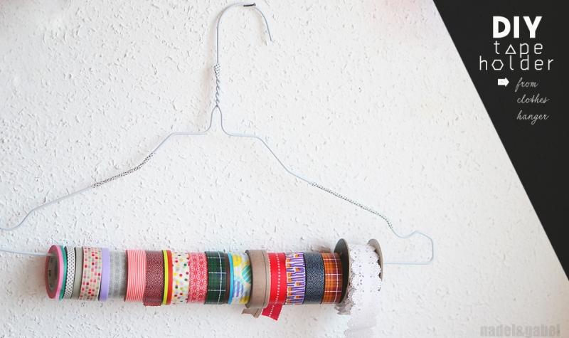 DIY masking tape holder