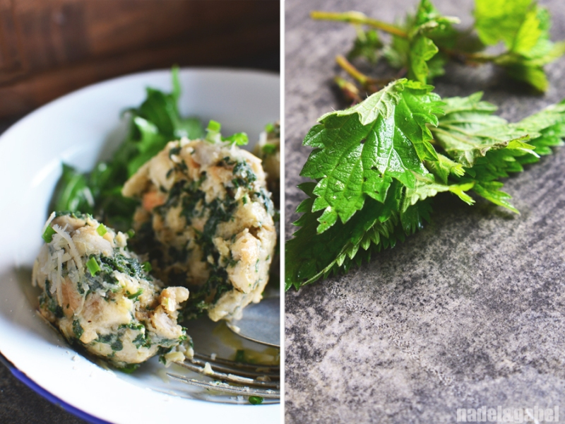 bread dumplings with stinging nettles 2