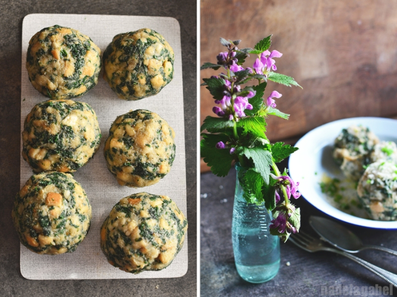bread dumplings with stinging nettles 4