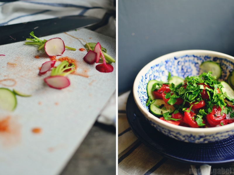 pita with spring salad