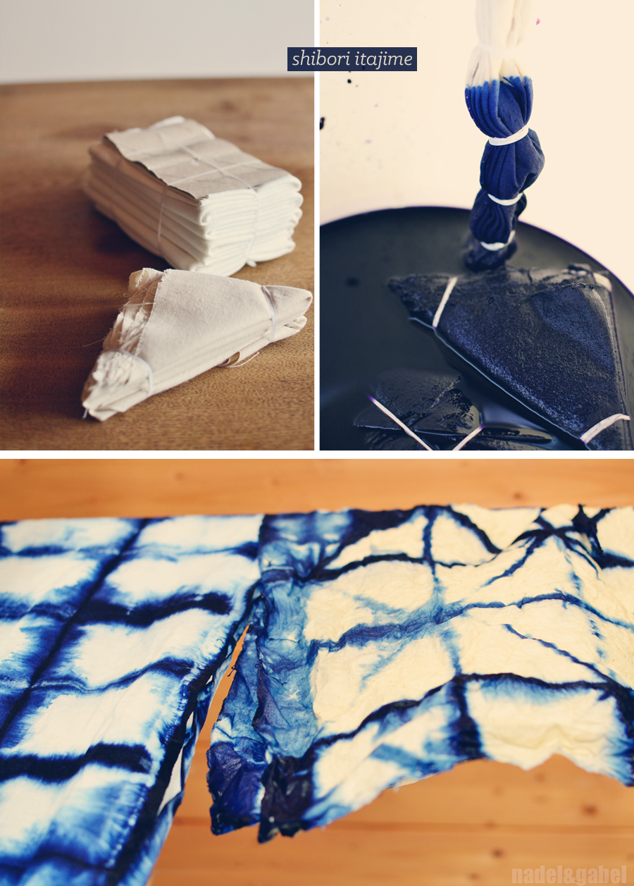 Indigo Shibori Dyeing And A Tote A Clutch And A Pouch
