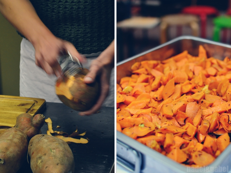 oven backed sweet potatoes