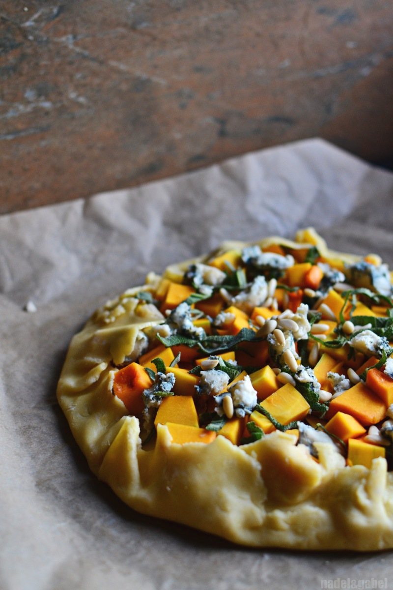 squash galette with gorgonzola and sage 1