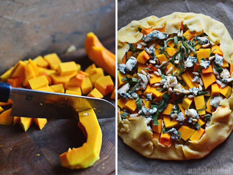 squash galette with gorgonzola and sage 4