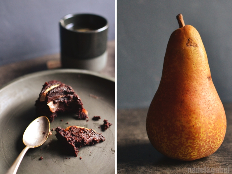 chcocolate cake with pear 2