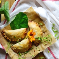 Mediterranean fusion - Empanadas with chard and feta cheese