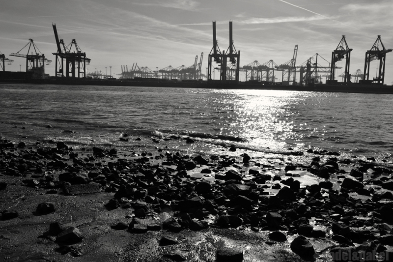 Hamburg Elbe strand and docks 1