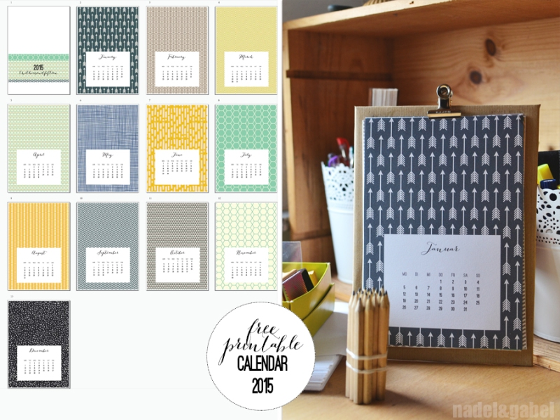 free printable calendar 2015 - nadel&gabel_1