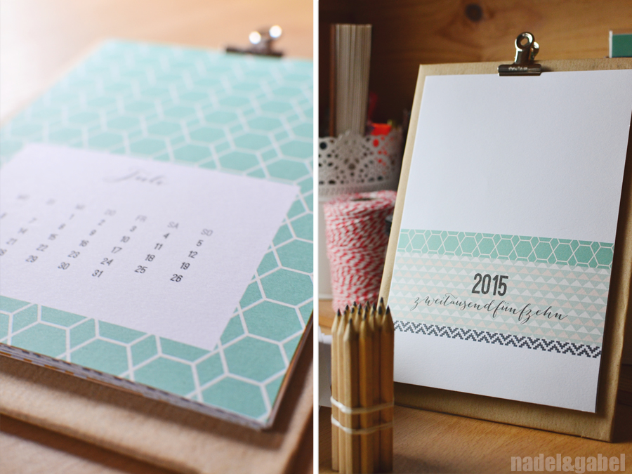Into a structured new year – Free printable calendar 2015 | nadel&gabel