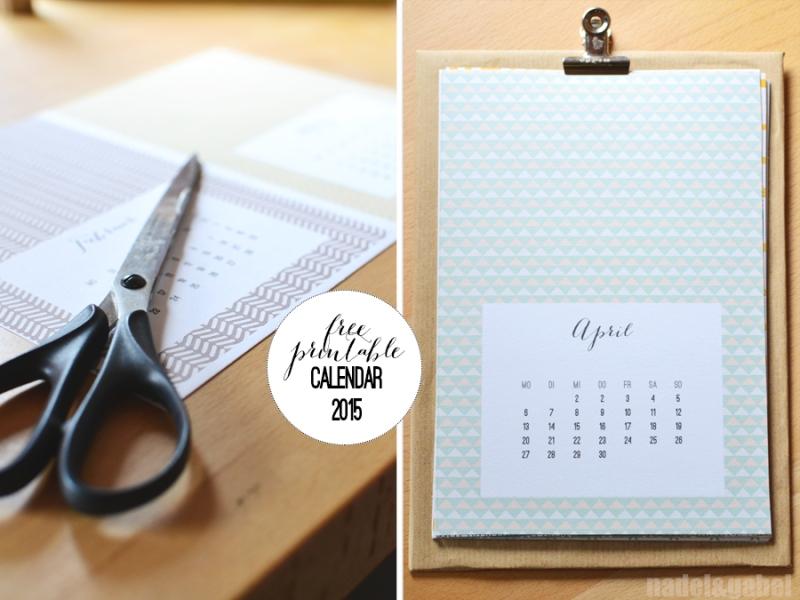 free printable calendar 2015 - nadel&gabel_3