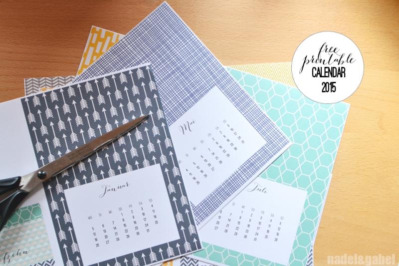free printable calendar 2015 - nadel&gabel_4