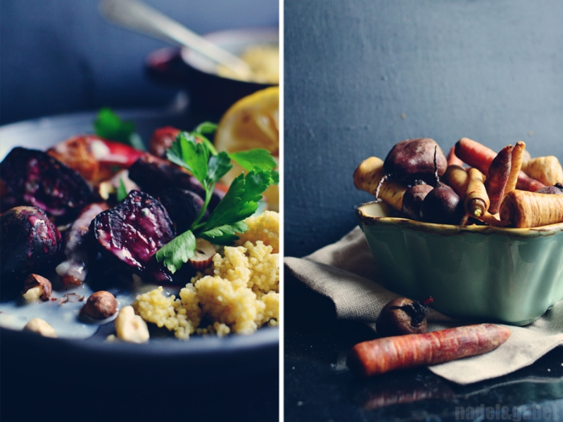 oven roasted root vegetable with millet 2