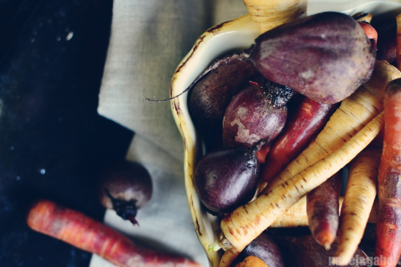 oven roasted root vegetable with millet 3