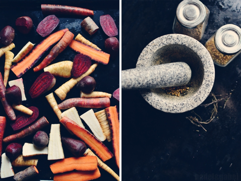 oven roasted root vegetable with millet 4