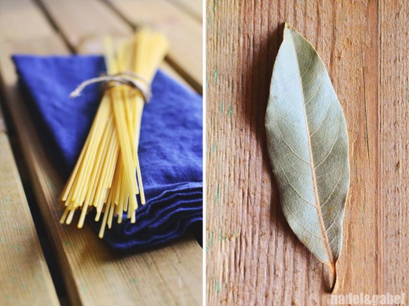 cooking pasta - laurel