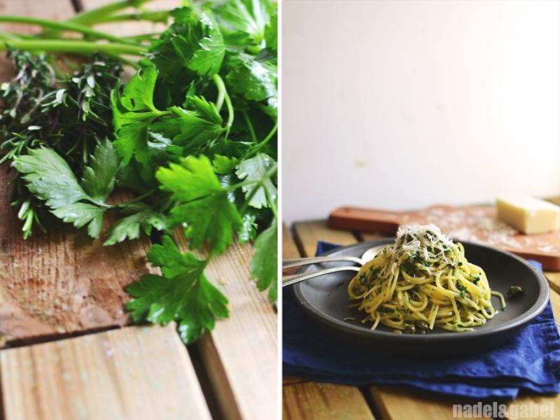 creamy herbed spaghetti 4