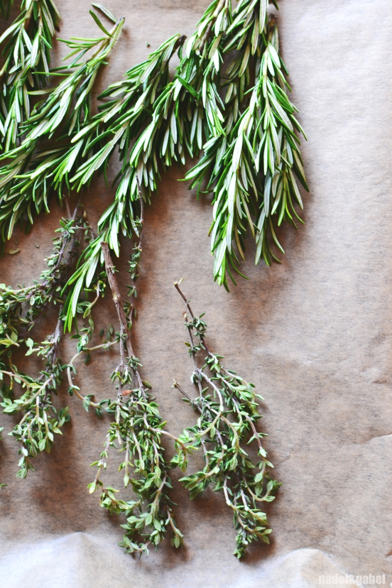 dried herbs - thyme and rosemary