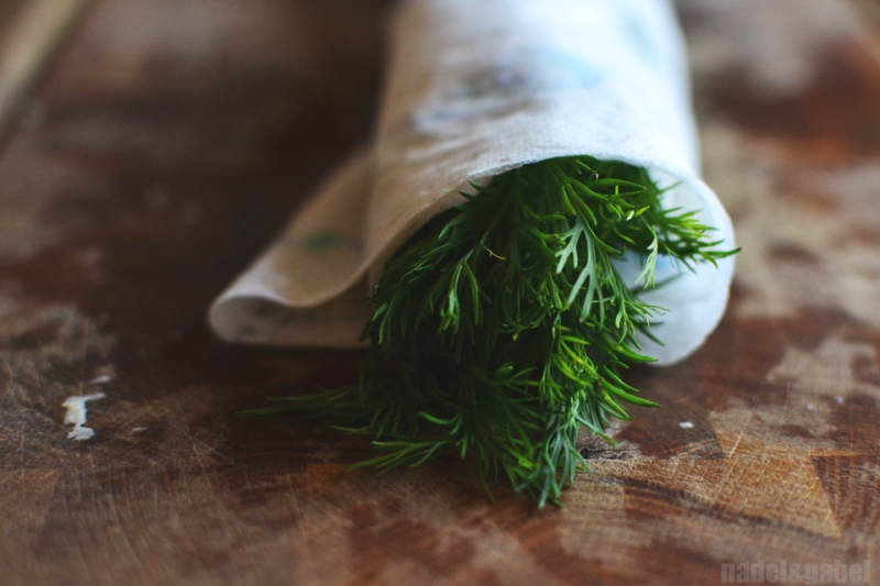 storing herbs fridge - dill
