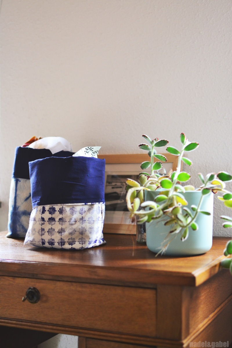 fabric storage bucket 1