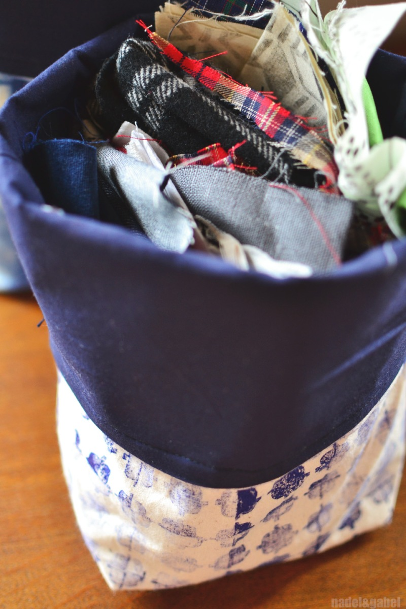 fabric storage bucket 3