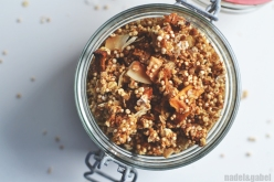 tropical granola with quinoa and coconut 1