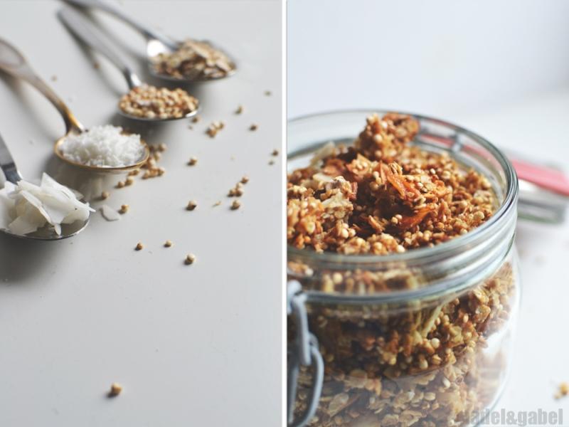 tropical granola with quinoa and coconut 2