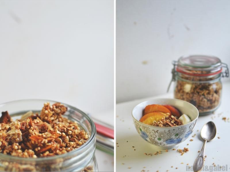 tropical granola with quinoa and coconut 4