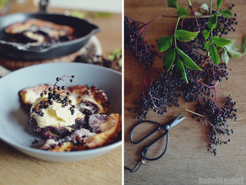 dutch baby with elderberries 2