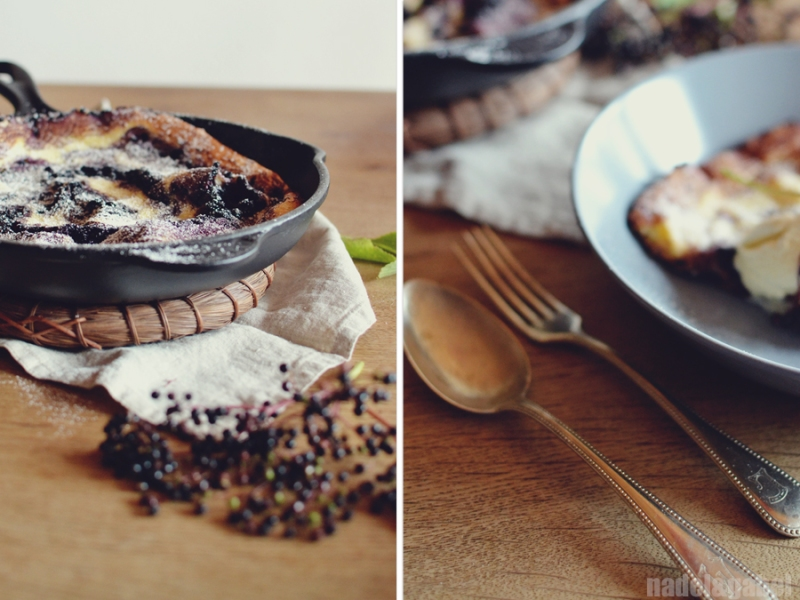 dutch baby with elderberries 3