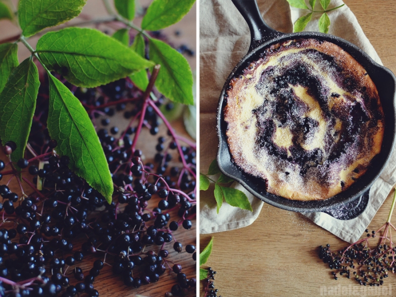 dutch baby with elderberries 5