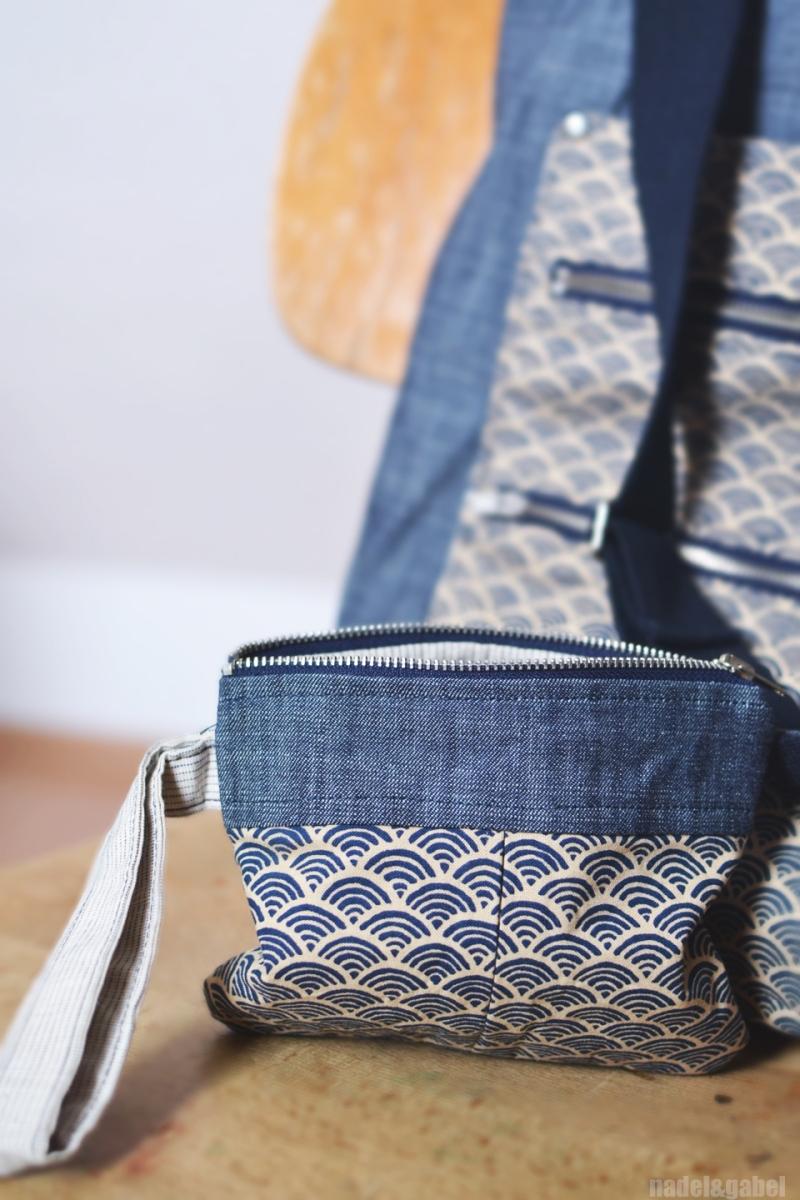 Seigaiha pattern clutch