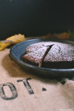 spiced carob date cake
