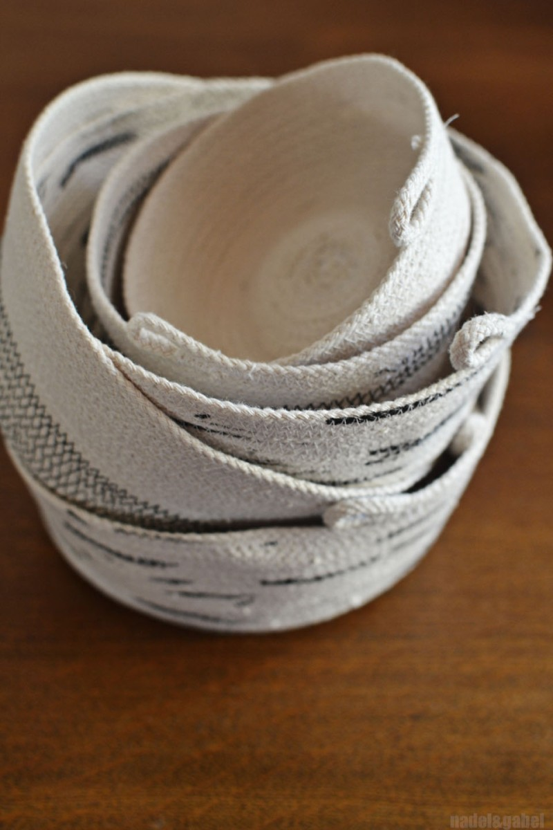 Keep on turning - DIY rope bowl