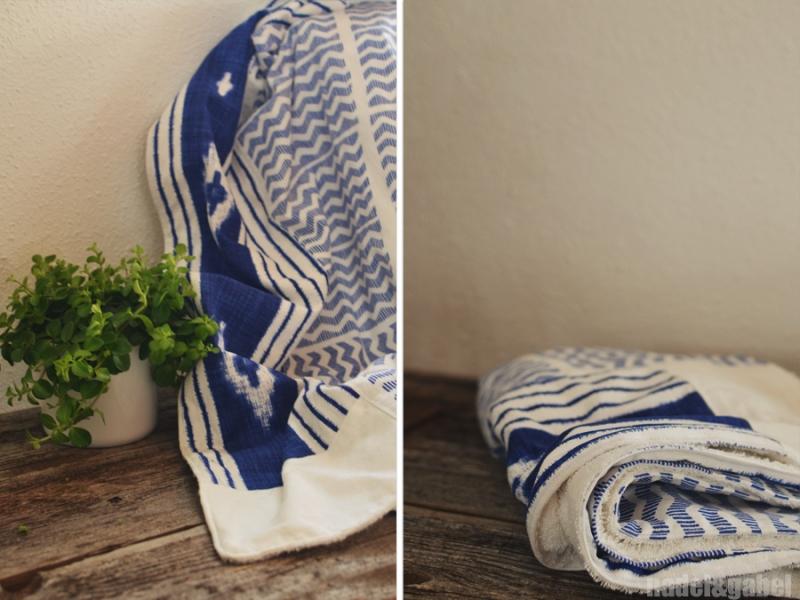 babyl blanket indigo dye