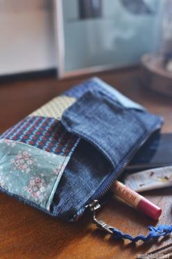 rainbow clutch handmade style