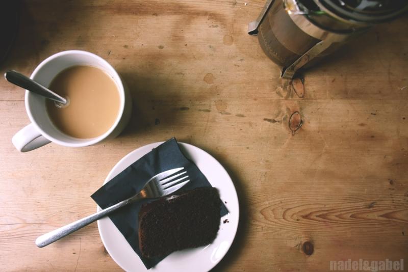 coffee and cake Hay-on-Wye