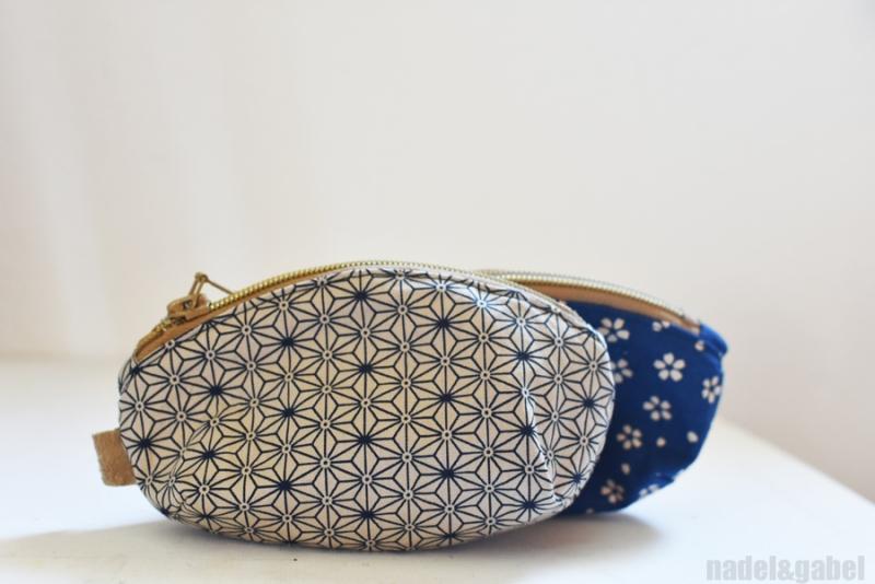 japanese asanoha pattern pouch