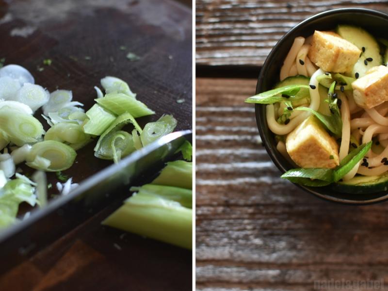 udon salad with tofu